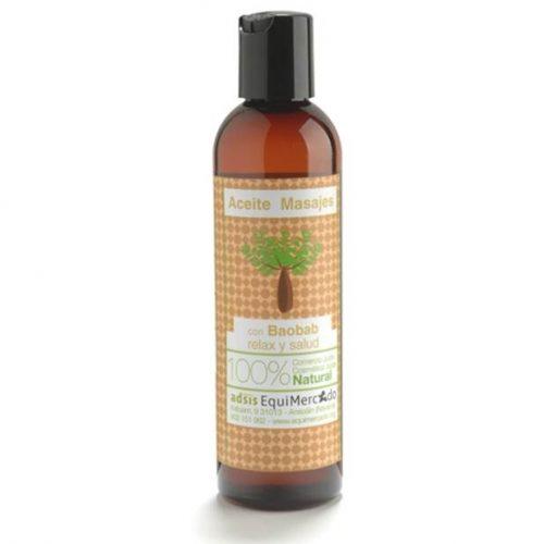 Aceite masajes de baobab.