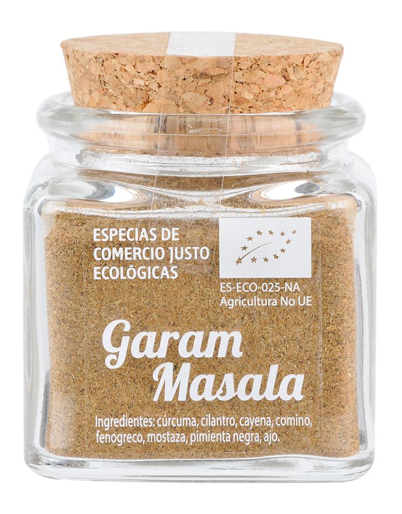 Bote de cristal de Garam Masala ecológico y de Comercio Justo