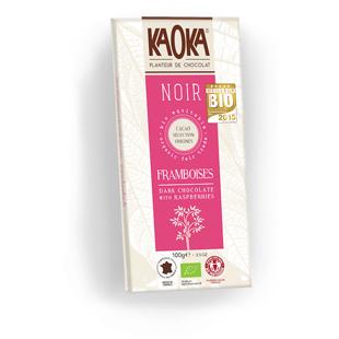 Tableta de chocolate Kaoka con frambuesa