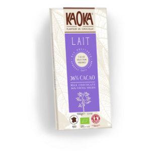 Tableta de chocolate Kaoka con leche