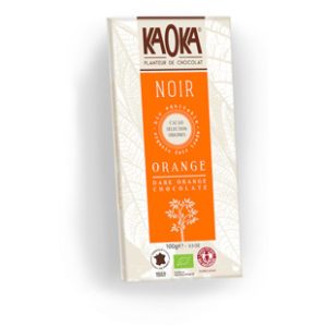 Tableta de chocolate Kaoka con naranja