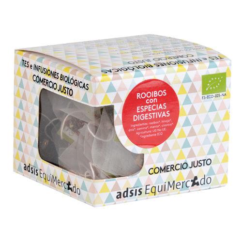 Caja de rooibos con especias digestivas en pirámides (contiene 15 uds)