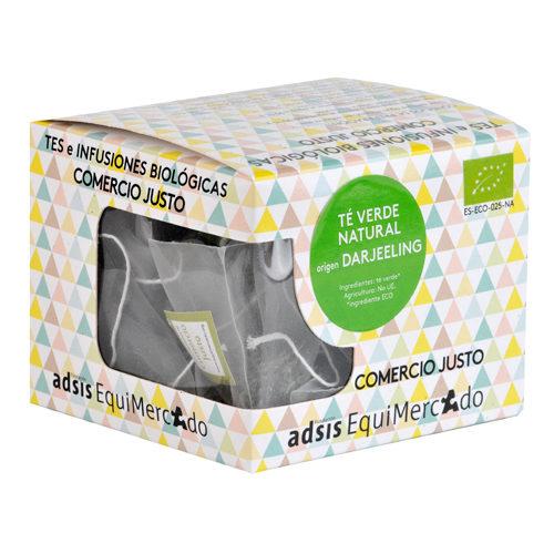 Caja de té verde natural darjeeling en pirámides (contiene 15 uds)