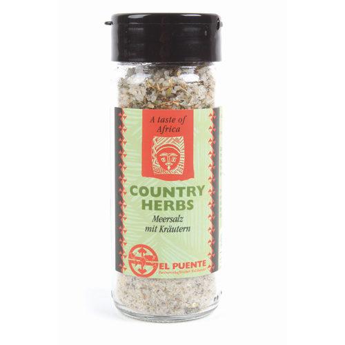 Bote de cristal de sal con hierbas