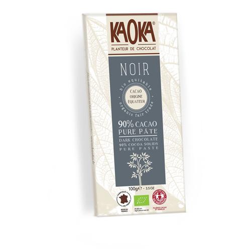 Tableta de chocolate kaoka negro 90% cacao