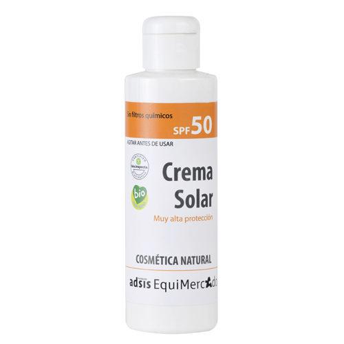 Bote de crema solar spf50