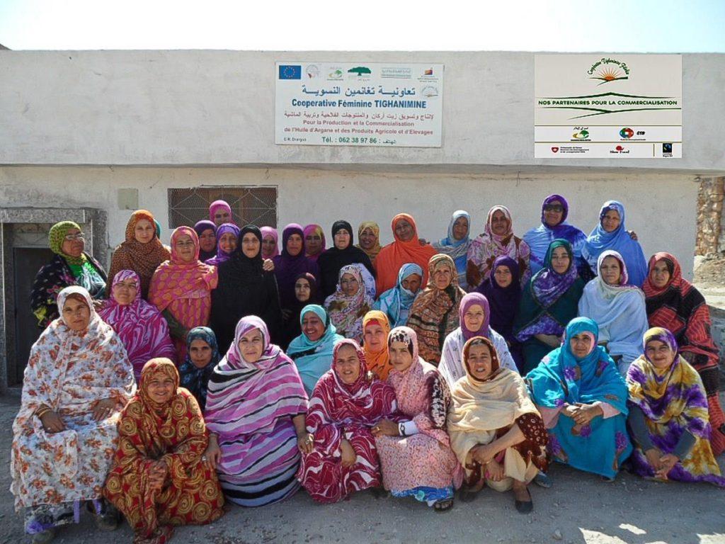 Mujeres de la cooperativa Tighanimine