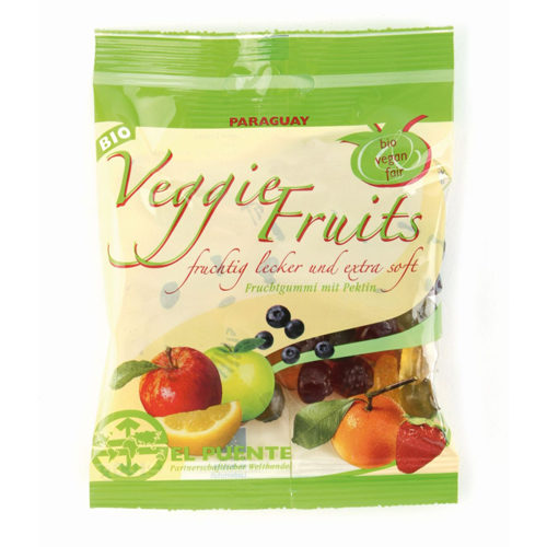 Bolsa de gominolas veganas de frutas