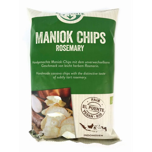 Bolsa de chips de mandioca con romero