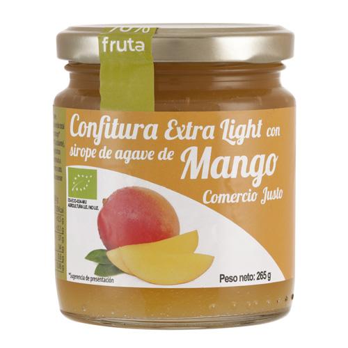 Bote de cristal de confitura extra light con sirope de agave de Mango