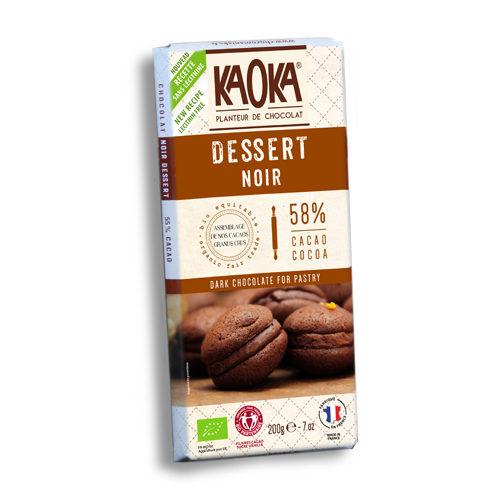 Tableta de chocolate Kaoka pasteles y postres cacao 55%