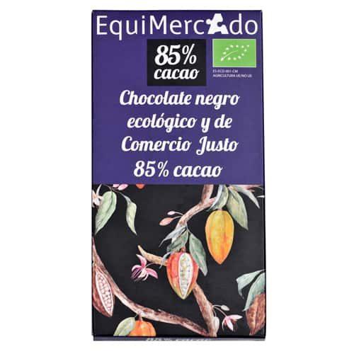 Chocolate negro 85% cacao ecológico y de comercio justo