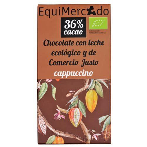 Chocolate con leche capuccino ecológico y de comercio justo