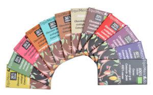 Chocolates ecológicos de y de Comercio Justo