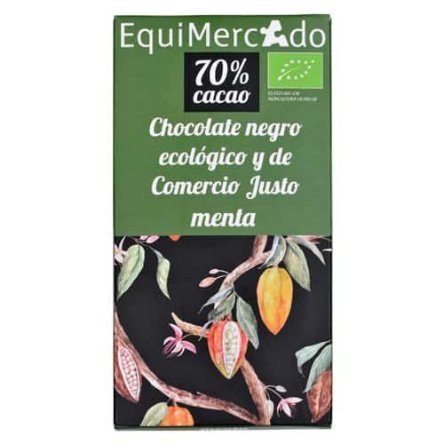 Chocolate negro con menta ecológico y de comercio justo