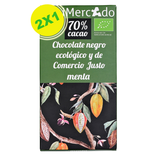Chocolate negro con menta eco