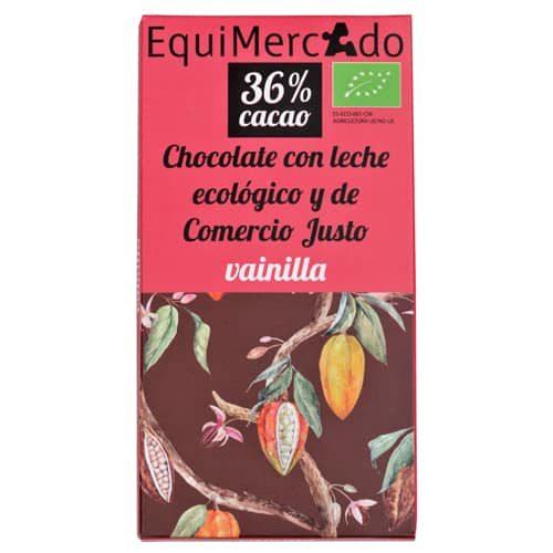 Chocolate con leche y vainilla ecológico y de comercio justo