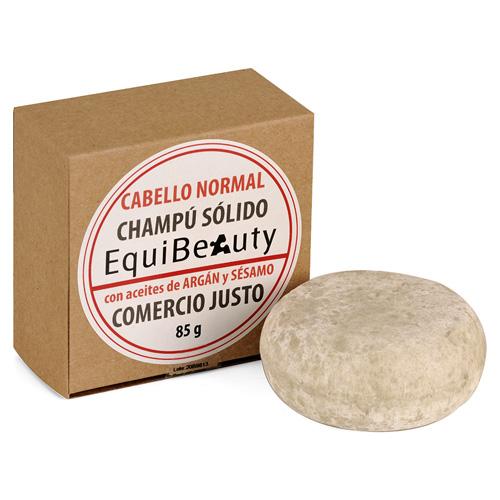 Champú sólido con aceite de argán y sésamo cabello normal en caja de cartón