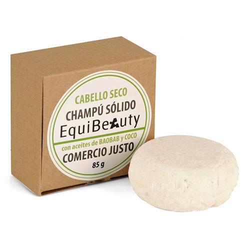 Champú sólido con aceite de baobab y coco cabello seco en caja de cartón